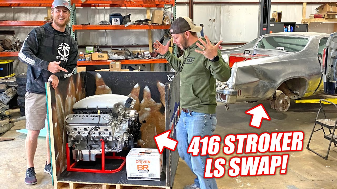 LS Swapping Demo Ranch's EL CHROMINO Part 1: Surprising Matt With a Texas Speed Stroker Engine!!!