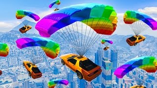 NEW FLYING SUPER CAR RACES! (GTA 5 Funny Moments)