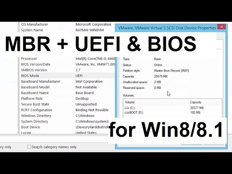 BIOS and UEFI boot on MBR disk (Win8/8.1)