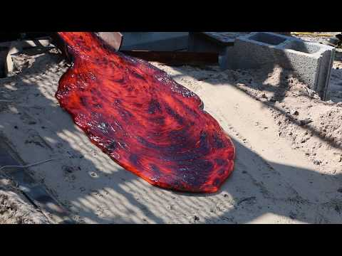 Watch real lava poured at Syracuse University