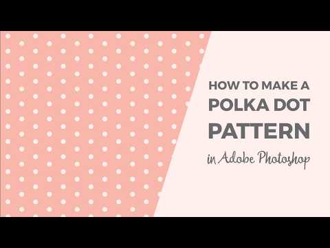 How to make a polka dot pattern in Photoshop