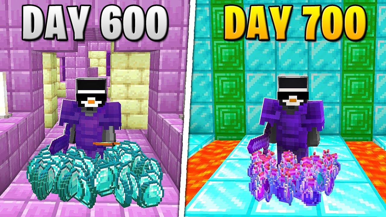 I Survived 700 Days in HARDCORE Minecraft...