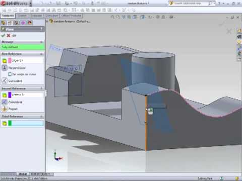 Solidworks 2011 Tutorial - Creating Planes