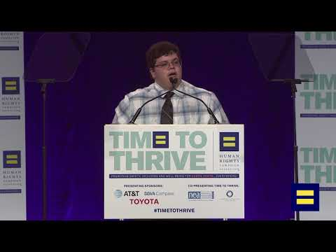 Gavin Grimm Receives Upstander Award at HRC's 2018 Time to Thrive LGBTQ Youth Conference