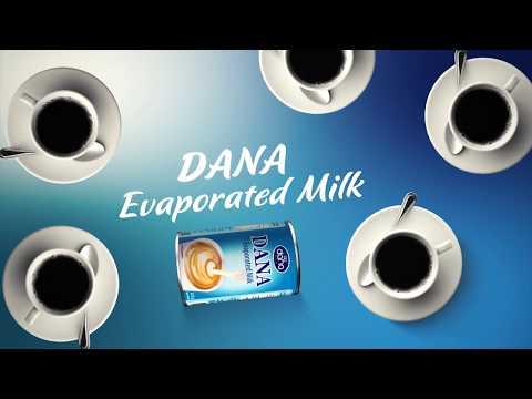 DANA Evaporated Milk - Unsweetened Condensed Milk in Tins