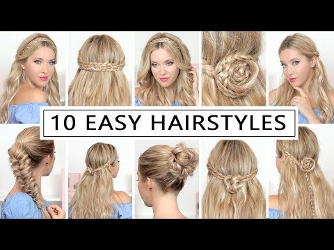 10 HAIRSTYLES for New Year's eve party, holidays ❤ Quick and easy hair tutorial