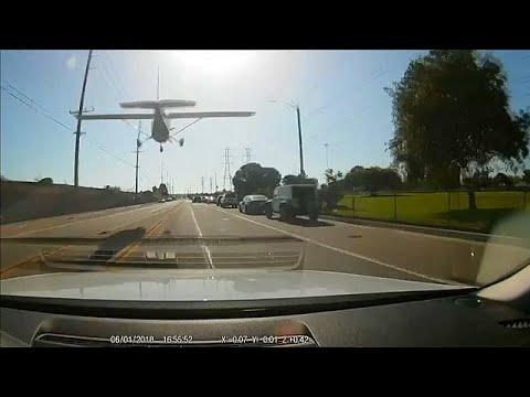 Light plane makes emergency landing on Huntington Beach
