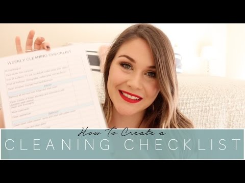 How To Create A Cleaning Checklist