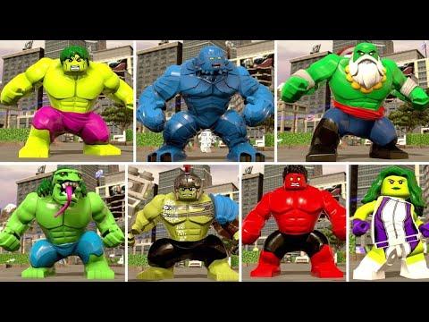 LEGO Marvel Super Heroes 2 - All Hulk Characters