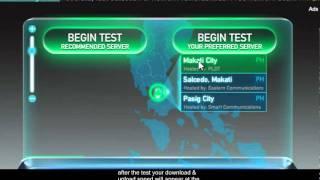 PLDT speed test