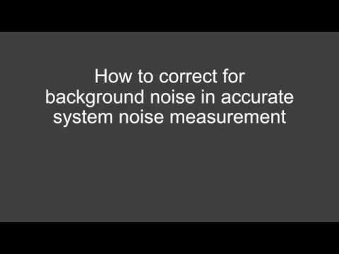 How to Remove Background Noise in Accurate System Noise Measurement