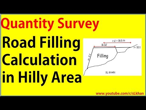 Quantity Survey : how to calculate Road filling in hilly area - civil engineering - engineer boy