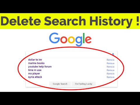 How To Delete/Clear Google Search History(Suggestions) Permanently On Google Chrome-2018