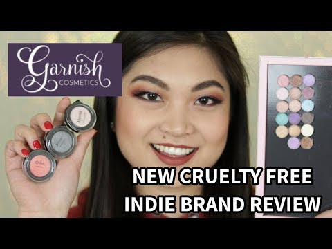 GARNISH COSMETICS SWATCHES AND REVIEW | CRUELTY FREE INDIE BRAND