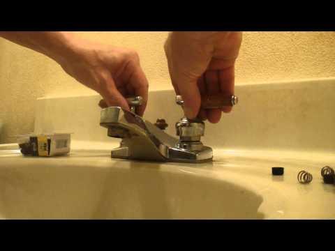 faucet change washer fix
