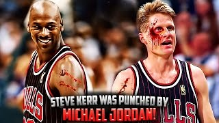 The Time Michael Jordan PUNCHED Steve Kerr In The Face!