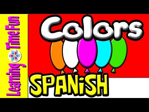 Spanish Colors | Spanish for Kids | Learning Spanish | Spanish Baby | Spanish Children