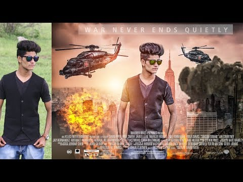 Action Movie Poster Design in Photoshop || Photoshop tutorial by Ahesan Editing |