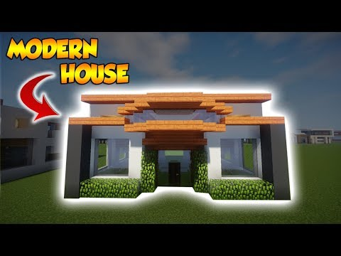 Minecraft: 15X15 Modern Tutorial - How to build a Cool Modern House