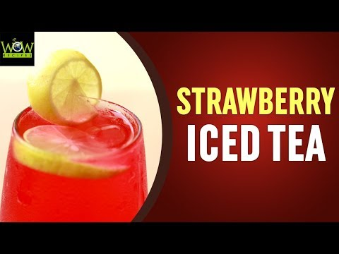 Strawberry Iced Tea Recipe | How to Make Strawberry Iced Tea at Home? | Online Kitchen | Wow Recipes