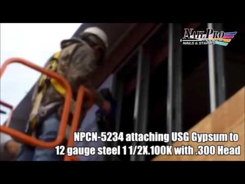 USG Gypsum to steel Stud