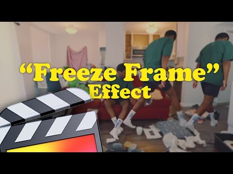 How To Make A Freeze Frame Effect (with a twist) - Final Cut Pro X