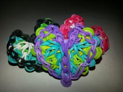 Lacy Heart Charm Tutorial by feelinspiffy (Rainbow Loom)