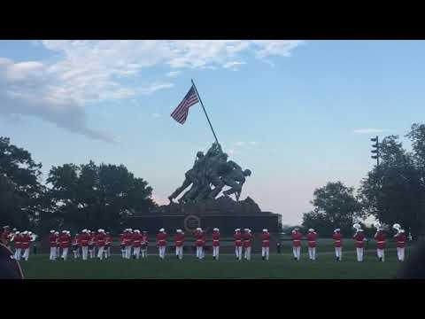 US Marine Corps Marching Band at Iwo Jima Memorial