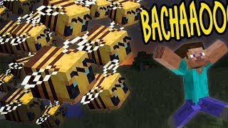 Me VS 100 BEES in Minecraft