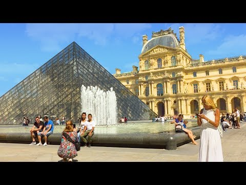 Paris Walk - The LOUVRE incl. Pyramid and Palace - France