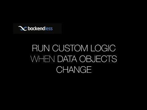 Running custom logic when data objects change