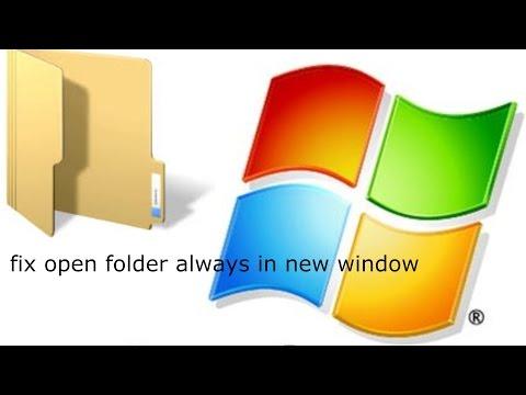 Fix open each folder always in new window