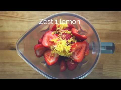 Easy Strawberry Lemonade Sorbet (NO Ice Cream Machine!)