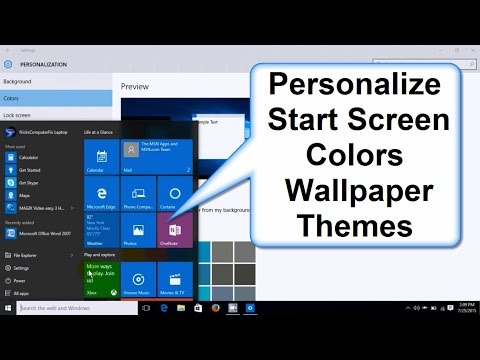 How to Change Windows 10 Start Screen Colors, Background, Wallpaper & Themes - Easy How To