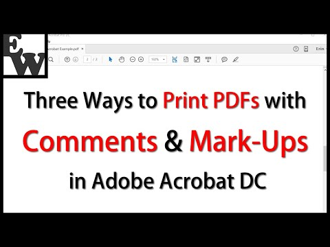 Three Ways to Print PDFs with Comments and Mark-Ups in Adobe Acrobat DC