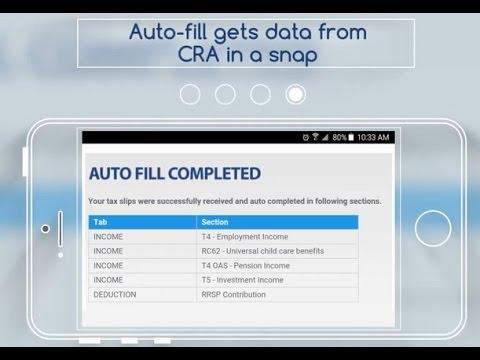 CRA Auto fill 2017 tax return fastneasytax