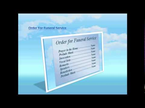 Blue Sky Background Free Funeral Program Template For Word 2007, 2010