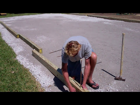 bocce ball court wood installation