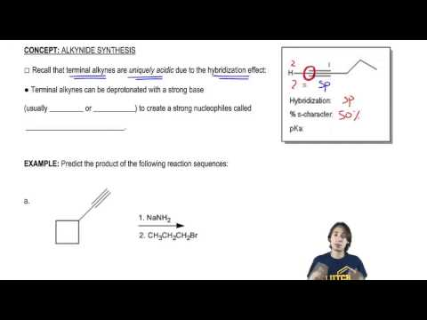 Understanding how to convert terminal alkynes to alkynides