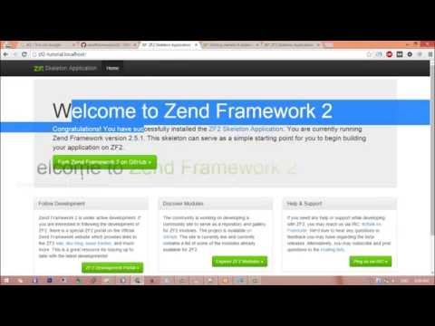 Install Zend 2 Framework  +  install the ZendSkeletonApplication with XAMPP