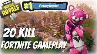 Solo 20 Kill Gameplay - Fortnite Battle Royale
