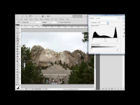 Auto Tone, Levels, and Levels Adjustment Layer in Photoshop CS5