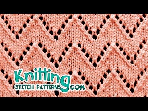 Chevron stitch | Lace Knitting #21