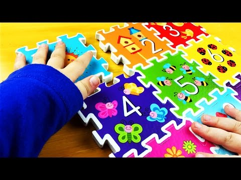 Learn Numbers with squishy foam puzzle. Educational for Babies, Toddlers, kids. Let's pLAY kIDS