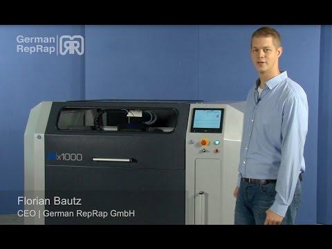 X1000 3d printer - Industrial large scale 3d printer by German RepRap