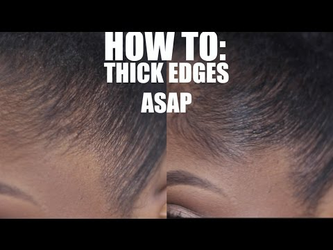 How to get SUPER STRAIGHT SLEEK & FULL THICKER EDGES QUICK! EDGE FILLER TUTORIAL