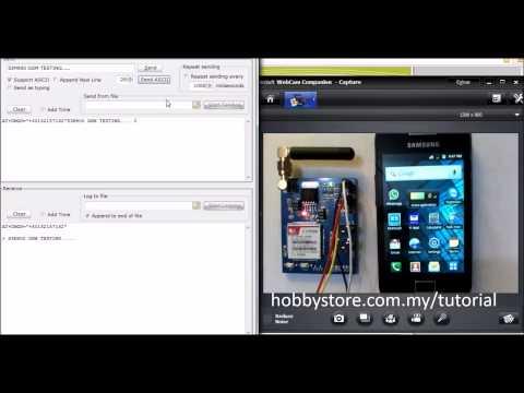 Send Text SMS via SIM900 GSM modem