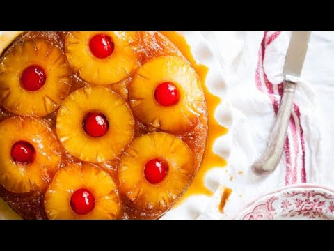 Pineapple Upside Down Cake (From Scratch Not From A Box) Classic Dessert Recipes.