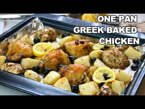 One Pan Greek Baked Chicken with Potatoes
