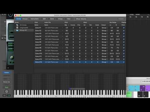 How to Create a Multi-Sample Instrument in the EXS24 Sampler - Logic Pro X Tutorial